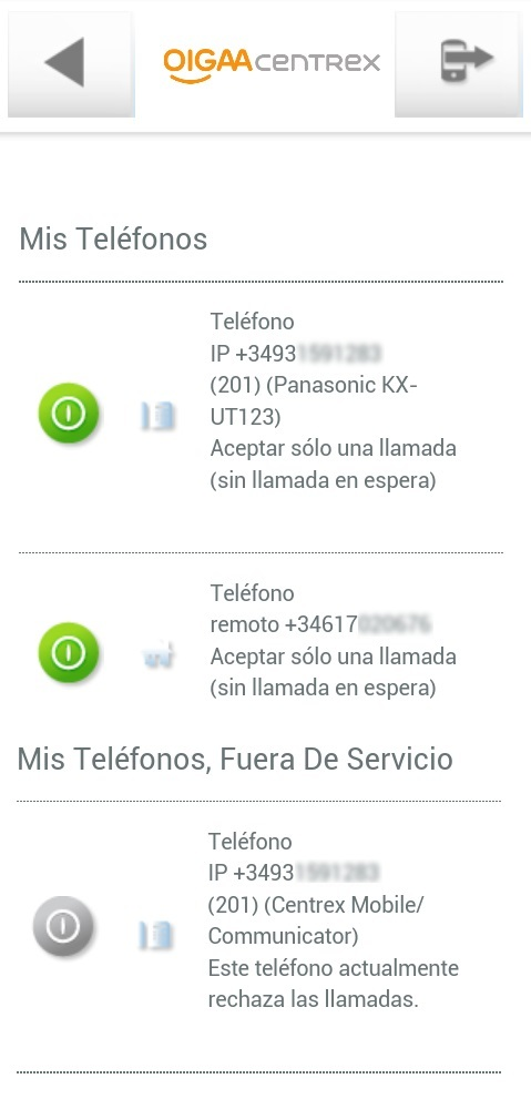 Gestion terminal OIGAA Me Movil2